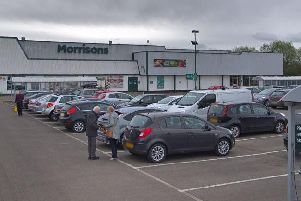 The man was stabbed in the car park of the Morrisons in Bellshill. Picture: Google.