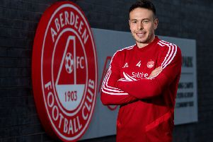 Andrew Considine will makes his 500th for Aberdeen when they face St Johnstone on Sunday. Picture: SNS