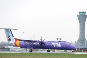 The Flybe turboprop was heading to Edinburgh