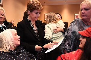 Nicola Sturgeon heard from women left suffering from mesh, including those who are now dying following complications. Picture: John Devlin