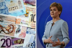The First Minister claimed Scotland could rejoin the EU relatively quickly, despite the SNPs Growth Commission report stating it could take between five and ten years to set up a new currency and stop using the pound.