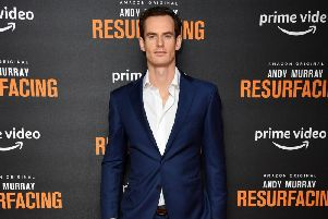Andy Murray at the premiere of his new Amazon Prime documentary. Picture: Getty