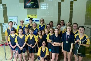 Cupar and District Swimming Club at the Carnegie Graded Meet.