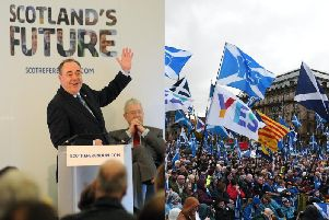 Alex Salmond (left) said the independence referendum was a 'once in a generation' opportunity. Pictures: JPIMedia