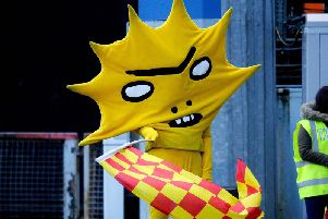 Partick Thistle FC's iconic mascot Kingsley. Picture: Michael Gillen