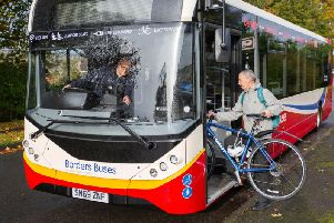 Borders Buses' 253 service now carries bikes on all services. Picture: Borders Buses