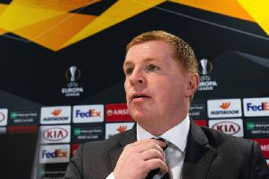 Neil Lennon speaks to the media ahead of Celtic's Europa League clash with Rennes