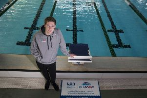 Duncan Scott, a double Olympic silver medallist, is looking forward to the European Short Course Swimming Championships in Glasgow next week. Picture: Jeff Holmes