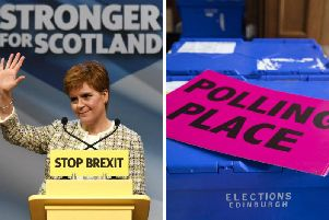 The SNP are predicted to win eight more seats by pollsters YouGov. Pictures: PA