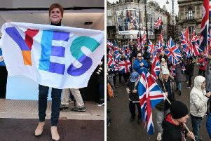 The survey found support for Scottish independence has increased slightly on recent polling, with support for the Union now tied 50-50 among voters. Pictures: JPI