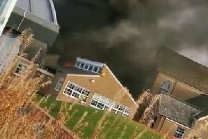 Firefighters are on the scene at the ongoing incident in the Scottish Borders.Video:@1Rigz