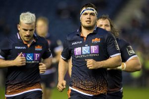 Stuart McInally will return for Edinburgh against Munster. Picture: SNS/SRU Bill Murray