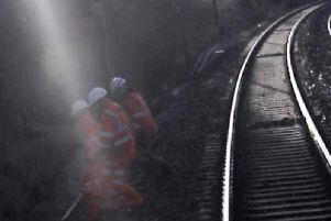 The near-miss happened as track engineers inspected a section of the West Coast mainline, near Kirtlebridge in Dumfries and Galloway on 14 November. Picture: Virgin Trains/RAIB