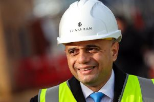 Sajid Javid was visiting the Stirling constituency - a key SNP-Con marginal - while in Scotland today.