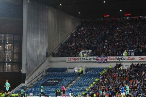 Part of Ibrox was closed for the visit of Legia Warsaw earlier this year