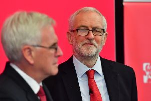 Labour's John McDonnell and Jeremy Corbyn vow to compensate Waspi pensioners. Picture: Anthony Devlin/Getty