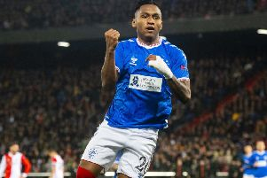 Alfredo Morelos was in fine form for Rangers against Feyenoord  in midweek but has yet to score against Celtic. Picture: Alan Harvey / SNS