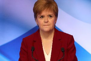 """First Minister Nicola Sturgeon said she would never use nuclear weapons and has called for the """"immoral"""" Trident nuclear system - based on the Clyde - to be scrapped."""