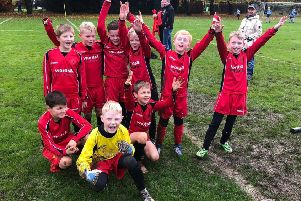 Ecline Primary School's P5 team, who won every game they  played in 2019.
