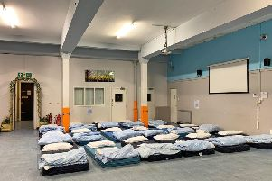 The Glasgow City Mission's Winter Night Shelter in Glasgow is open between December and March and can accommodate up to 40 people.