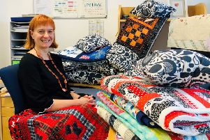 Sheena Stone, LinkLiving's head of fundraising, organiser of the Quilts Make Homes campaign