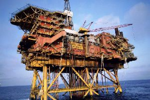 Shell's Brent Alpha platform in the North Sea. Picture: SWNS