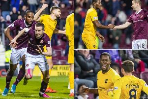Steven MacLean rescued a point for Hearts after Marvin Bartley's acrobatic, and unexpected, opener