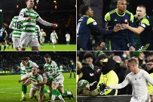 A dramatic end to the encounter at Celtic Park saw the visitors equalise on 90 minutes but concede the winner just two minutes later