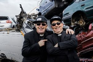 The Shoes Brothers Reverend Neil Urquhart and Father Willie Boyd. Picture: TSPL