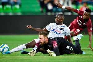 Serhou Guirassy in action for Amiens against Metz