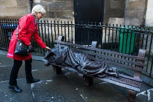 A sculpture of a 'homeless Jesus' sleeping rough in Glasgow city centre (Picture: John Devlin)