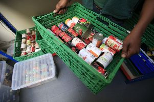 Food being sorted at a food bank. (Picture: PA)
