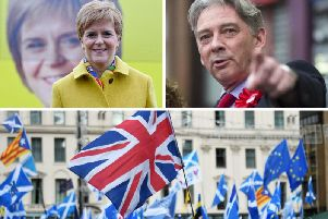 Scottish Labour leader Richard Leonard (top right) confirmed an agreement could be hatched in exchange for the Nicola Sturgeons party supporting Jeremy Corbyn in a hung parliament. Pictures: John Devlin/JPIMedia/PA