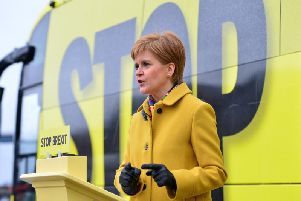Ms Sturgeon said that this election 'won't decide independence', but that it would help to determine whether 'Boris Johnson decides Scotland's future or the people of Scotland do so'.