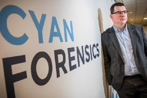 Ian Stevenson is the CEO of Cyan Forensics. Picture: Contributed