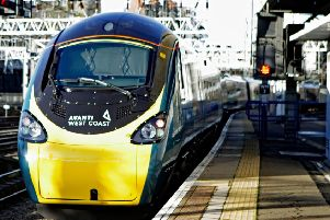 An Avanti West Coast train showing the new logo as it departs from London's Euston Station for its inaugural journey along the West Coast Main Line. Picture: Luciana Guerra/PA Wire