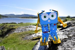 Almost 200 people contributed to the oversubscribed funding round for Marty the robot. Picture: Contributed