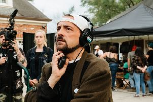 Kevin Smith as Silent Bob on set. Picture: PA Photo/Universal Pictures/Kyle Kaplan