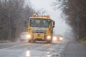 The Met Office said surfaces and roads could be slippery, and advised people to take care when walking or driving, as voters prepare to head to the polls on Thursday. Picture: JPIMedia