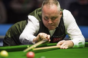John Higgins overtook fellow Scot Stephen Hendry by recording his 776th century break as he lost to Jack Lisowski in Glasgow. Picture: SNS.