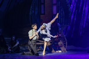 Andrew Peasgood and Constance Devernay in Scottish Ballet's world premiere of Christopher Hampson's The Snow Queen. PIC: Andy Ross