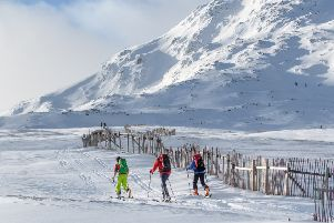 Ski tourers pictured at the Glencoe Mountain ski area. Will there still be days like this in 2080? PIC: Stevie McKenna
