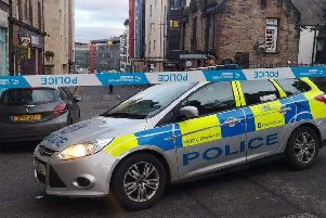 Part of Holyrood Road was sealed off yesterday.