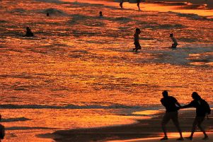 People look to cool off at Bondi Beach in Australia as a major heatwave sees the country sweltering in the hottest temperatures ever recorded