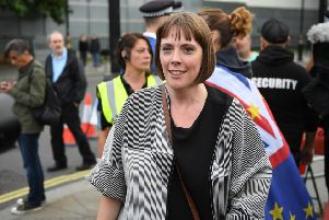 Jess Phillips, Labour MP for Birmingham Yardley, outside Parliament in September as People's Vote activists protest against the government's stance on Brexit (Picture: Chris J Ratcliffe/Getty Images)