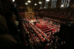 The State Opening of Parliament in the House of Lords last Thursday. Picture: Aaron Chown/PA