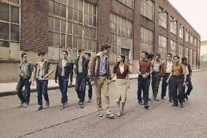The cast of Steven Spielberg's West Side Story, with Ansel Elgort as Tony and Rachel Zegler as Maria PIC: Ramona Rosales