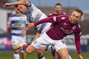 Scott Stewart scored a consolation goal for Arbroath. Picture: SNS.