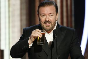 Ricky Gervais hosts the 2020 Golden Globes. Picture: PA