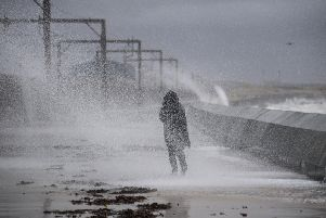 The winds have caused travel chaos across Scotland. Picture: John Devlin